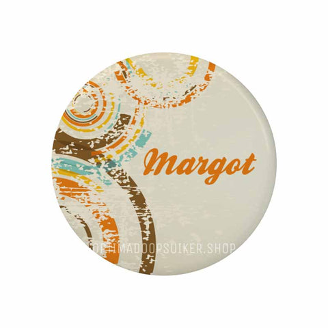 Button - Magneet Vintage oranje - OptimaDoopsuiker