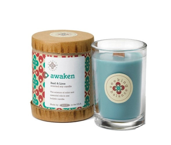 Holistic Candle: Awaken with Basil and Lime