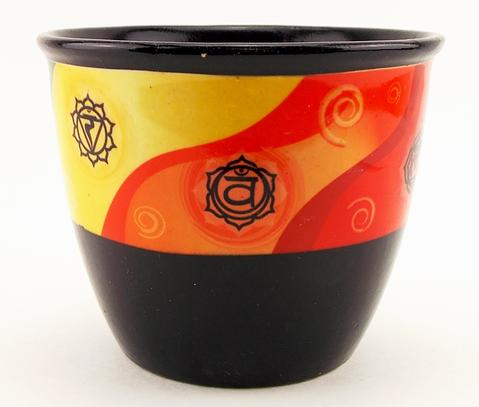 Ceramic Smudge Pot - Chakras