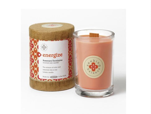 Holistic Candle: Energize with Rosemary Eucalyptus