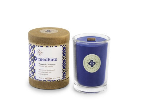 Holistic Candle: Meditate with Vetyver and Olibanum