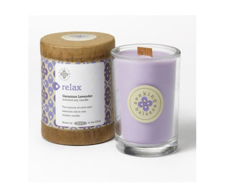 Holistic Candle: Relax with Geranium Lavender