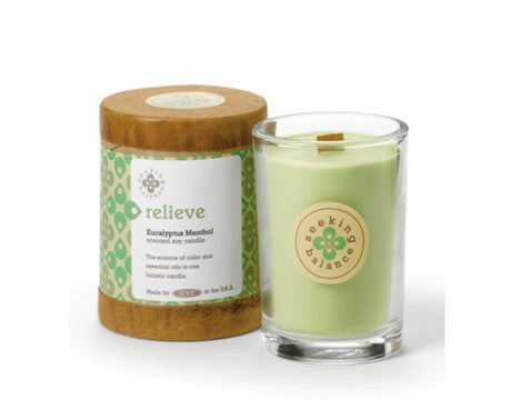 Holistic Candle: Relieve with Eucalyptus Menthol