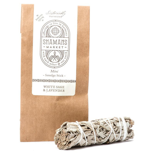 White Sage & Lavendar Smudge Bundle Mini