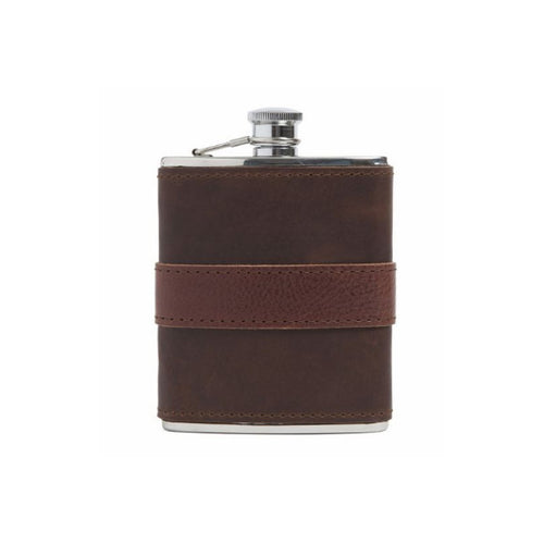 Leather Wrapped Flask // Chocolate + Chocolate - Mick & Kip