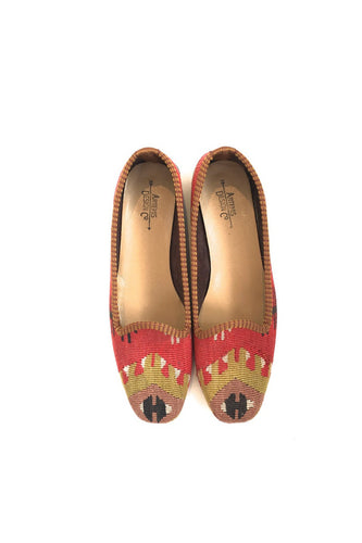 ARTEMIS Ladies Kilim Flat size 38 Red and Green