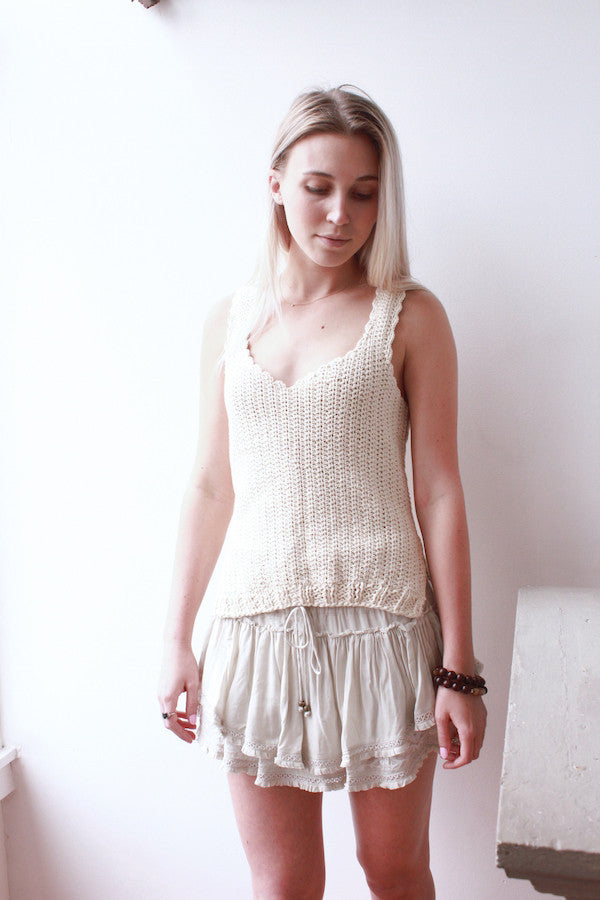 Hand Knit Tank Top