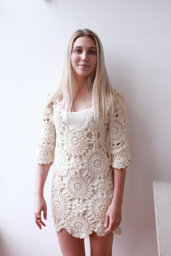 Hand Knit Mini Dress