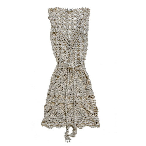 Open Weave Mini Dress