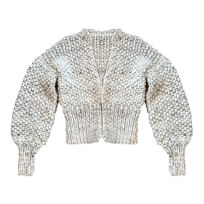 Wool Crop Cardigan