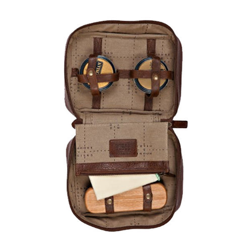 Griffin Shoe Shine Kit // Titan Milled Brown - Mick & Kip - 1