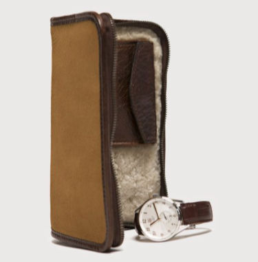 Accessories Case // Nubuck Bison Tan - Mick & Kip - 3