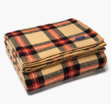 FARIBAULT SOHO WHIPSTITCH THROW // CAMEL AND BLACK - Mick & Kip