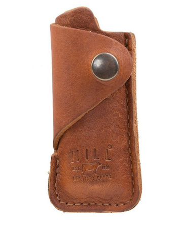 Leather Lighter Cover, Tan