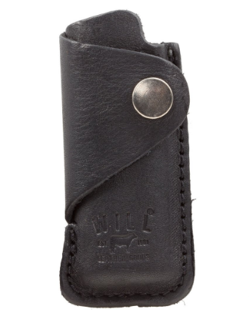 Leather Lighter Cover, Black