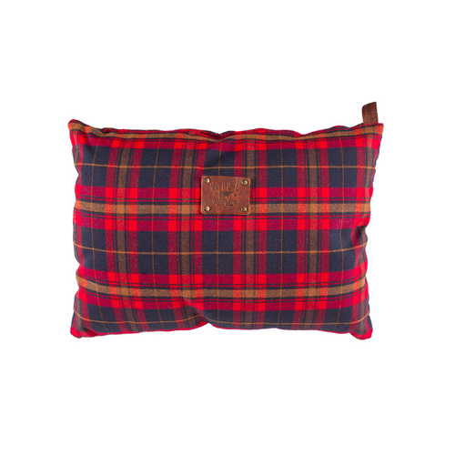 Plaid Travel Pillow