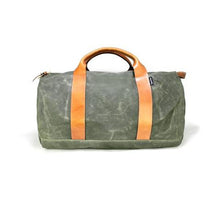 Army green duffel bag by Owen and Fred's | Lex & Zach