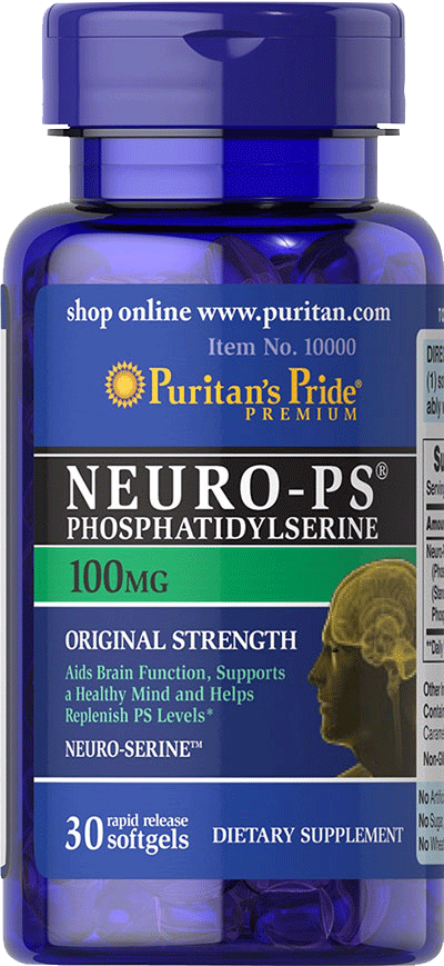 Puritan's Pride Neuro-PS Phosphatidylserine 100mg 30 softgel