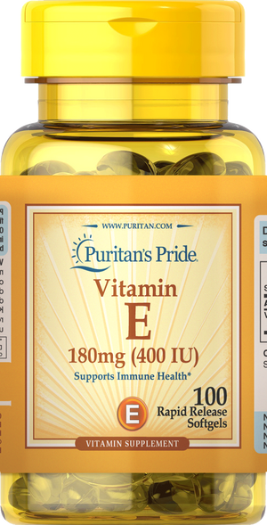 Vitamin E Synthetic 400iu 100 softgels | Puritan's Pride