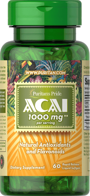 Acai 1000 mg 60 Softgels