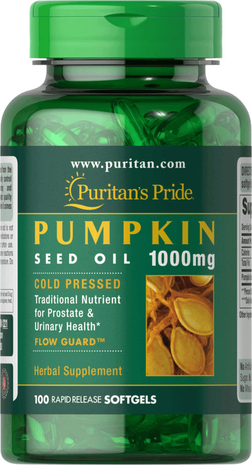 Puritan's Pride Pumpkin Seed Oil 1000 mg 100 softgels
