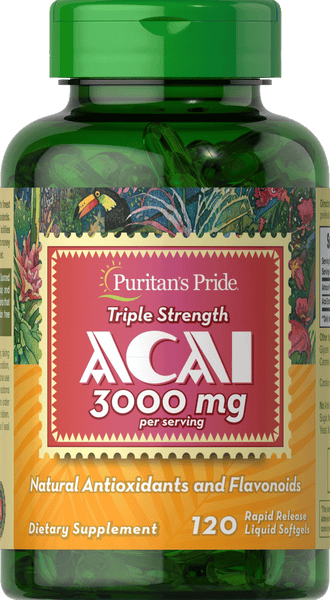 Acai Triple Strength 3000 mg 120 softgels | Puritan's Pride