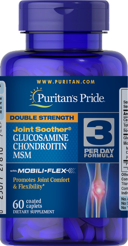 Glucosamine Chondroitin MSM Double Strength 60 caplets | Puritan's Pride