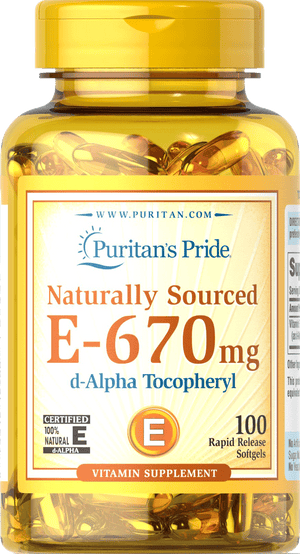 Vitamin E 100% Natural 1000 IU 100 softgels | Puritan's Pride