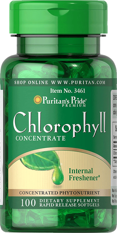 Chlorophyll Concentrate 50mg 100 softgels | Puritan's Pride