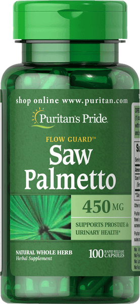 Saw Palmetto 450 mg 100 capsules | Puritan's Pride