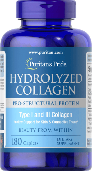 Hydrolyzed Collagen 1000 mg 180 caplets | Puritan's Pride