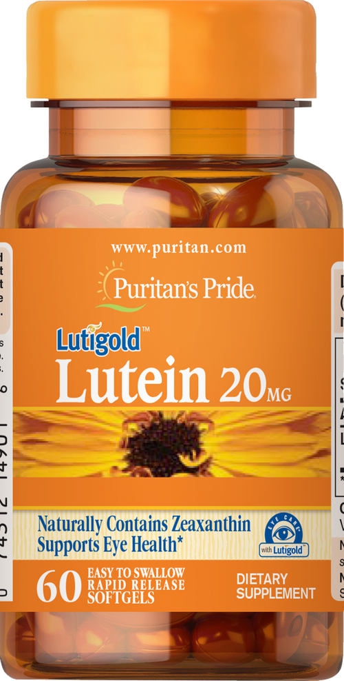 Lutein 20 mg with Zeaxanthin 60 softgels | Puritan's Pride