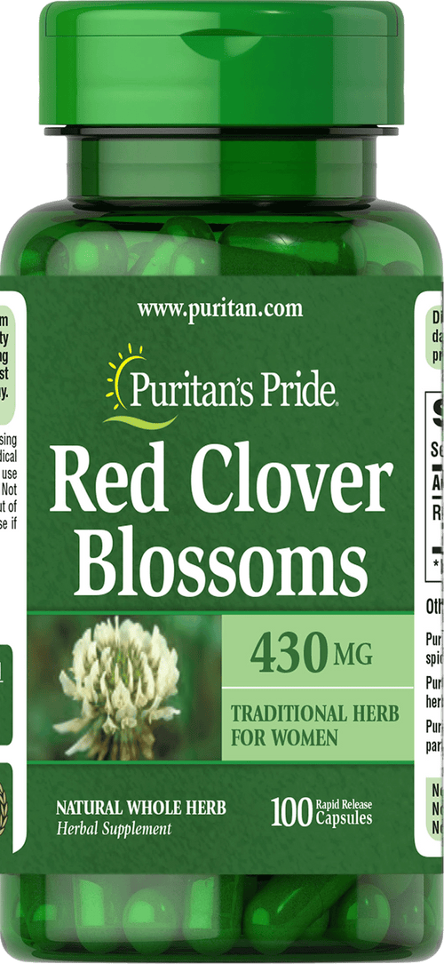 Red Clover Blossoms 430 mg 100 capsules