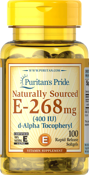 Vitamin E 100% Natural 400 IU 100 softgels | Puritan's Pride
