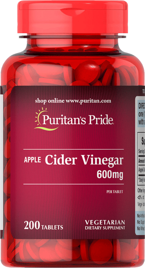 Apple Cider Vinegar 600 mg 200 tablets | Puritan's Pride