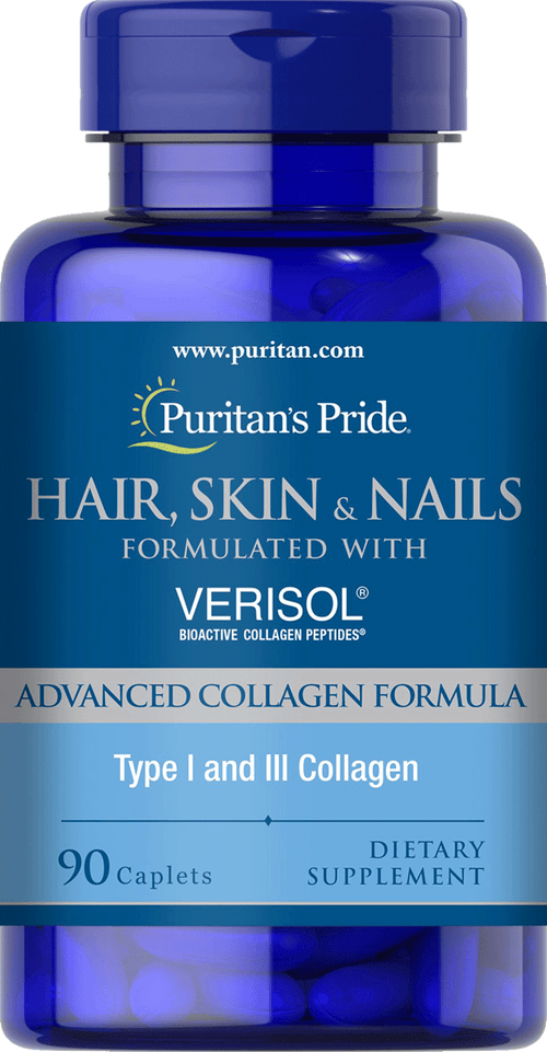 Puritan's Pride Hair, Skin and Nails formulated with VERISOL® 90 caplets