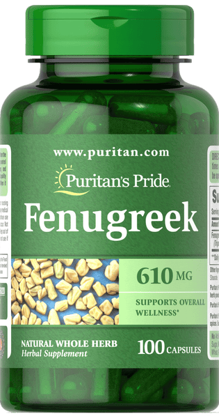 Fenugreek 610 mg 100 capsules | Puritan's Pride