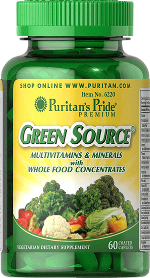 Green Source Multivitamin & Minerals 60 caplets