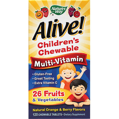 Alive Children's Multivitamins Orange 120 chewables | Nature's Way