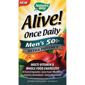 Alive Once Daily Men's 50+ Ultra Potency 60 tablets | Nature's Way