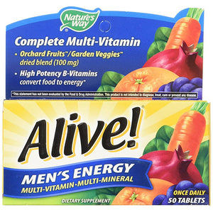 Alive Men's Energy Once Daily 50 tablets | Nature's Way