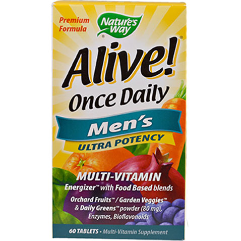 Alive Once Daily Men's Ultra Potency 60 tablets | Multivitamins