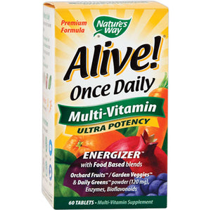 Alive Once Daily Multivitamin Ultra Potency 60 tablets | Nature's Way