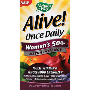 Alive Once Daily Women's 50+ Ultra Potency 60tablets | Nature's Way