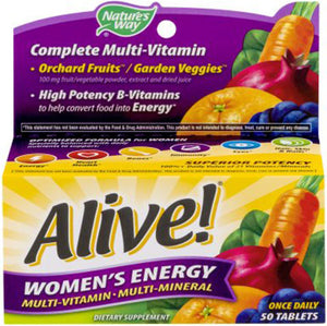 Alive Women's Energy Once Daily 50 tablets | Nature's Way