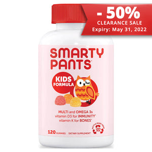 SmartyPants Vitamins Kids Formula 120 gummies | CLEARANCE 50% OFF