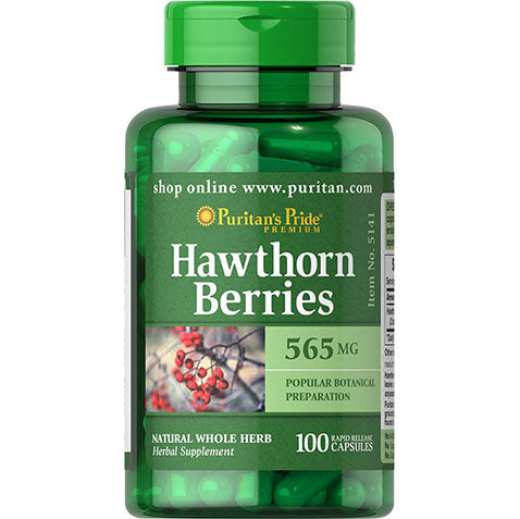 Hawthorn Berries 565mg 100 capsules | Puritan's Pride