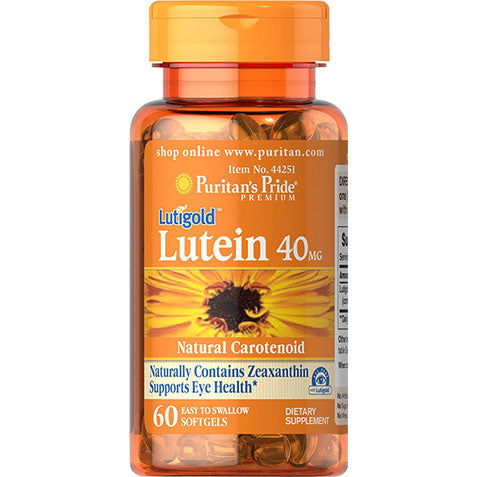 Lutein 40 mg with Zeaxanthin 60 softgels | Puritan's Pride