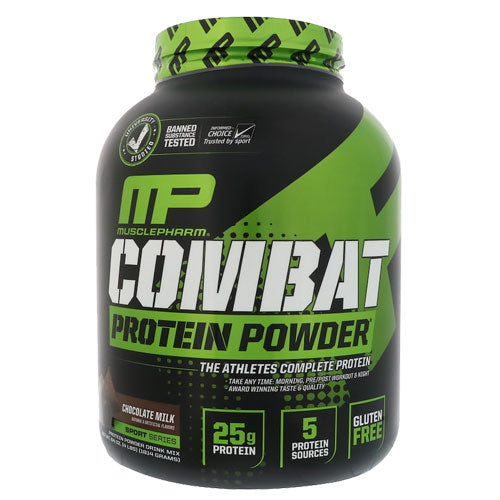 MusclePharm MP Combat 100% Whey 5 lbs 73 servings Chocolate | Edgepro Trading Inc