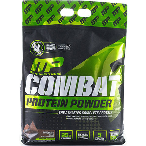MP Combat Protein Powder Whey 10 lbs 130 servings, Chocolate | MusclePharm